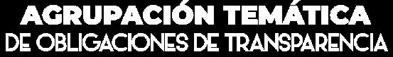 Banner de Agrupación temática de obligaciones de transparencia