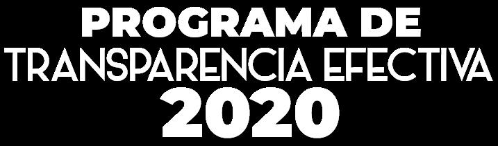 Banner del Programa de Transparencia Efectiva 2020